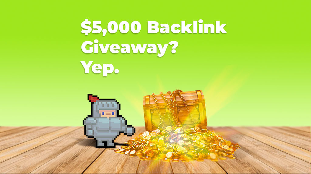 Info and signup form for our backlink giveaway.