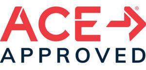 Ace Fitness' logo.