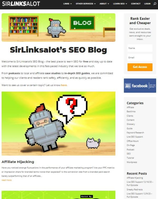 utilize your blog section