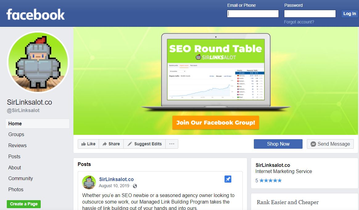 create a business profile on social media