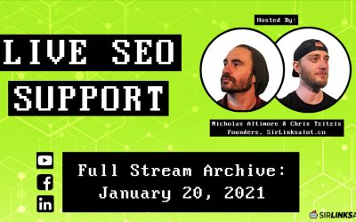 Live SEO Support 1/20/21 – Full Episode