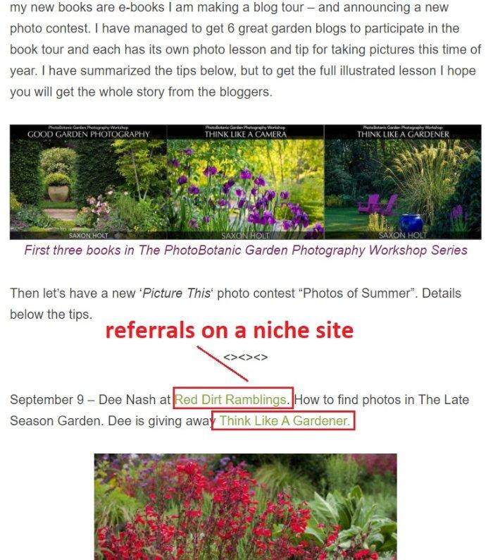get backlinks on niche sites