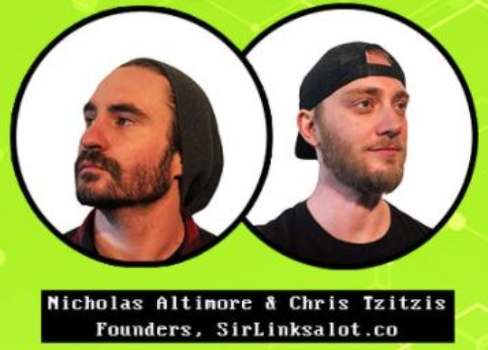 SirLinksalot co-founders, Chris Tzitzis and Nick Altimore