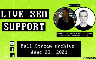 Live SEO Support 6/23/21 – Full Episode