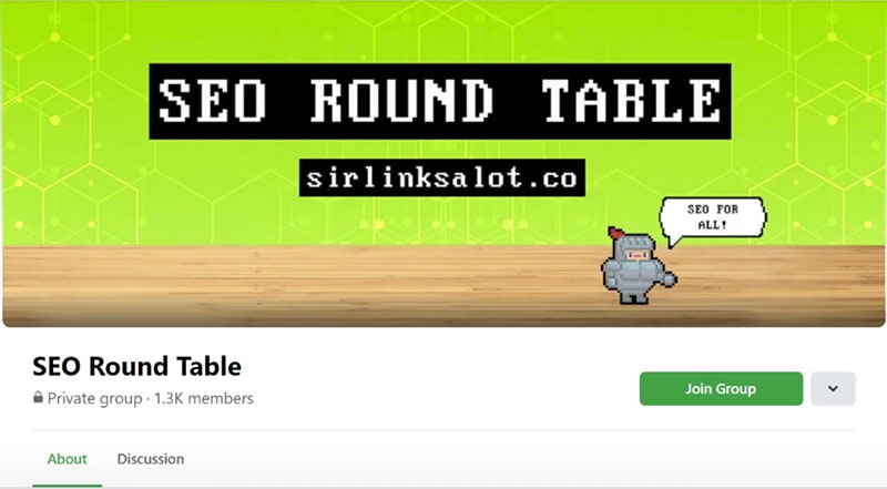 SEO Round Table - SirLinksalot's Facebook community for learning and discussing SEO.